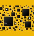 Abstract gradient black geometric on yellow tech