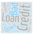 Bad Credit No Money Down Loans Help Within Reach vector image vector image