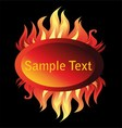 Banner Fire Flame on a Black Background vector image vector image