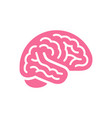 brain pink color side view icon intellect symbol vector image vector image