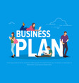 business plan concept vector image vector image