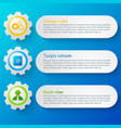business web design banners set vector image vector image