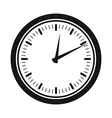 clock silhouette vector image vector image