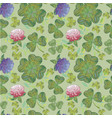 clover background seamless pattern clover vector image vector image