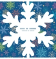 colorful doodle snowflakes Christmas snowflake vector image vector image