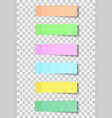 colour post note stickers with shadow vector image vector image