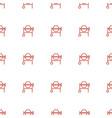 concrete mixer icon pattern seamless white vector image vector image