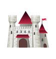 cute fairy tale castle vector image vector image