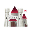 cute fairy tale castle with vector image vector image