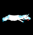 dead unicorn deadly fantastic animal with horn vector image