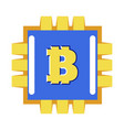 digital currency bitcoin or cryptourrency vector image