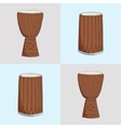 djembe and dunumba vector image vector image
