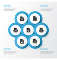 document icons set collection of page vector image vector image