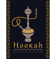 Emblem with a hookah vector image