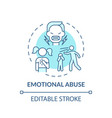 emotional abuse turquoise concept icon