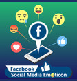 facebook social media emoticon background i vector image