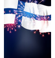 flag finland on background holiday vector image