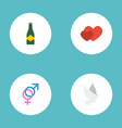 flat icons love sexuality symbol fizz and other vector image vector image