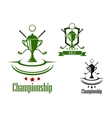Golf championship emblem or banner vector image vector image