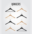 hanger collection - wooden plastic hook vector image