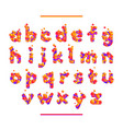 holiday colorful font isolated on white bg vector image vector image