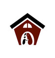 house dog logo icon vector image vector image