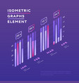isometric elements of graphic presentation vector image vector image