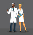 Man and woman doctors vector image vector image