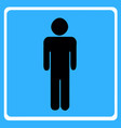 man figure - wc toilet icon vector image