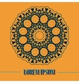 Mandala based oriental postcard Print vector image vector image