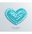 modern heart icon vector image vector image