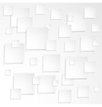 much white paper sheet with shadow vector image vector image