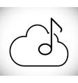 Music cloud design vector image vector image