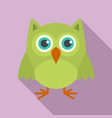 nature owl icon flat style vector image vector image