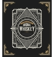 old whiskey label and vintage frame vector image vector image