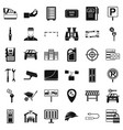 padlock icons set simple style vector image vector image