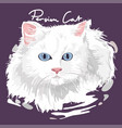 persian cat painting poster vector image