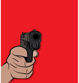 Person Holding and Shooting a Pistol Hand Gun vector image vector image