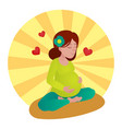 pregnant girl meditation vector image vector image