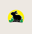 rabbit nature logo vector image vector image
