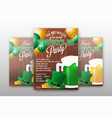 realistic stpatricks day party invitation vector image vector image
