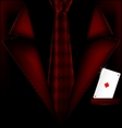 red suit and ace of diamonds vector image vector image