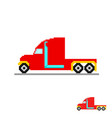 red truck without a trailer on a white background vector image