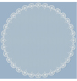 Round lacy frame vector image