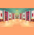 royal palace ballroom hall cartoon castle interior vector image