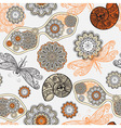 seamless pattern with sunglasses flowers shells vector image vector image