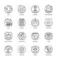set of design and development glyph icons vector image