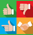 set of different hand gestures vector image vector image
