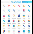 set trendy flat gradient design vector image