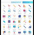 set trendy flat gradient design vector image vector image